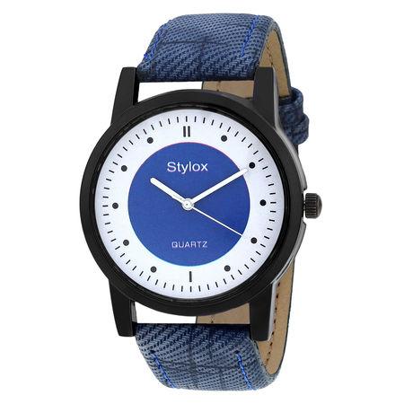 Stylox Blue Round Dial Men s Watch-WH-STX166
