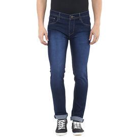 Stylox Mens Dark Blue Skinny Fit Jeans, 36