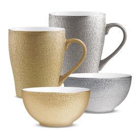 cupid royale 4pcs snack set - mug 350ml 2pcs & 2 bowls - Treo - Ceramic - Cup Tea Coffee