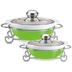 party perfect round casserole set 1000 ml+ 1500 ml - Treo - Ceramic - Table Serve