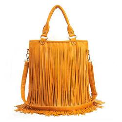 Tassel handbag, Yellow
