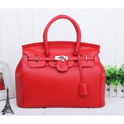 Fashion tote handbag, Red