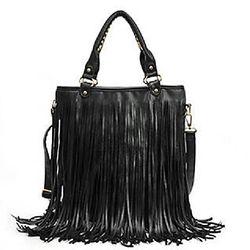 Tassel handbag, Black