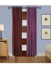 Angiela Home Fab Solid Crush Quality Multicolor Long Door Curtain-2 Piece (Angiela0061-9 Feet)
