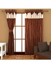 Angiela Home Fab Solid Crush Quality Multicolor Long Door Curtain-2 Piece (Angiela0136-9 Feet)
