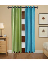 Angiela Home Fab Solid Crush Quality Multicolor Door Curtains-2 Piece (Angiela0103-7 Feet)