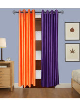 Angiela Home Fab Solid Crush Quality Multicolor Long Door Curtain-2 Piece (Angiela0022-9 Feet)