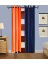 Angiela Home Fab Solid Crush Quality Multicolor Long Door Curtain-2 Piece (Angiela0029-9 Feet)