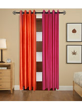 Angiela Home Fab Solid Crush Quality Multicolor Long Door Curtain-2 Piece (Angiela0123-9 Feet)