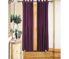 Angiela Home Fab Solid Crush Quality Multicolor Door Curtains-2 Piece (Angiela0016-7 Feet)