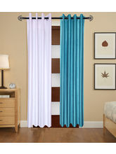 Angiela Home Fab Solid Crush Quality Multicolor Door Curtains-2 Piece (Angiela0127-7 Feet)