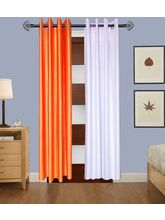 Angiela Home Fab Solid Crush Quality Multicolor Long Door Curtain-2 Piece (Angiela0026-9 Feet)