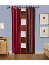 Angiela Home Fab Solid Crush Quality Multicolor Long Door Curtain-2 Piece (Angiela0034-9 Feet)