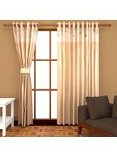 Angiela Home Fab Solid Crush Quality Multicolor Long Door Curtain-2 Piece (Angiela0141-9 Feet)