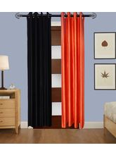 Angiela Home Fab Solid Crush Quality Multicolor Door Curtains-2 Piece (Angiela0079-7 Feet)