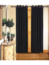 Angiela Home Fab Solid Crush Quality Multicolor Long Door Curtain-2 Piece (Angiela0005-9 Feet)