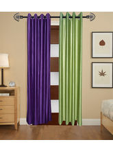 Angiela Home Fab Solid Crush Quality Multicolor Long Door Curtain-2 Piece (Angiela0088-9 Feet)
