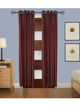 Angiela Home Fab Solid Crush Quality Multicolor Door Curtains-2 Piece (Angiela0003-7 Feet)