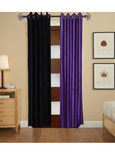 Angiela Home Fab Solid Crush Quality Multicolor Long Door Curtain-2 Piece (Angiela0076-9 Feet)