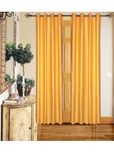 Angiela Home Fab Solid Crush Quality Multicolor Long Door Curtain-2 Piece (Angiela0012-9 Feet)