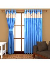 Angiela Home Fab Solid Crush Quality Multicolor Door Curtains-2 Piece (Angiela0144-7 Feet)