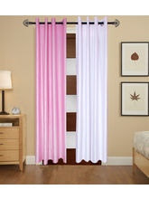 Angiela Home Fab Solid Crush Quality Multicolor Long Door Curtain-2 Piece (Angiela0111-9 Feet)