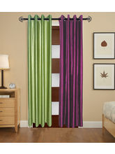 Angiela Home Fab Solid Crush Quality Multicolor Long Door Curtain-2 Piece (Angiela0108-9 Feet)
