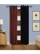 Angiela Home Fab Solid Crush Quality Multicolor Door Curtains-2 Piece (Angiela0050-7 Feet)