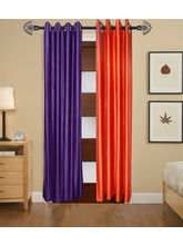 Angiela Home Fab Solid Crush Quality Multicolor Long Door Curtain-2 Piece (Angiela0091-9 Feet)
