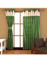 Angiela Home Fab Solid Crush Quality Multicolor Door Curtains-2 Piece (Angiela0153-7 Feet)
