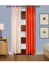 Angiela Home Fab Solid Crush Quality Multicolor Door Curtains-2 Piece (Angiela0067-7 Feet)