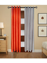 Angiela Home Fab Solid Crush Quality Multicolor Door Curtains-2 Piece (Angiela0126-7 Feet)