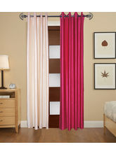 Angiela Home Fab Solid Crush Quality Multicolor Long Door Curtain-2 Piece (Angiela0072-9 Feet)