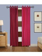 Angiela Home Fab Solid Crush Quality Multicolor Door Curtains-2 Piece (Angiela0045-7 Feet)