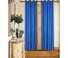 Angiela Home Fab Solid Crush Quality Multicolor Door Curtains-2 Piece (Angiela0015-7 Feet)