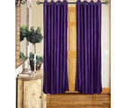 Angiela Home Fab Solid Crush Quality Multicolor Long Door Curtain-2 Piece (Angiela0006-9 Feet)