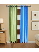 Angiela Home Fab Solid Crush Quality Multicolor Door Curtains-2 Piece (Angiela0107-7 Feet)