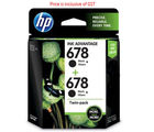 HP 678 LOS23AA Twin Pack Black Ink Cartridge