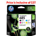HP 685 CMYK Combo Ink Cartridges Pack