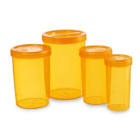 Iris Container 701-703-705-707 (4700Ml) (4Pc Set), 4700 ml,  orange