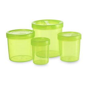 Iris Container 700-702-704-706 (3330Ml) (4Pc Set), 3330 ml,  green
