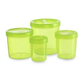 Iris Container 700-702-704-706 (3330Ml) (4Pc Set),  green, 3330 ml