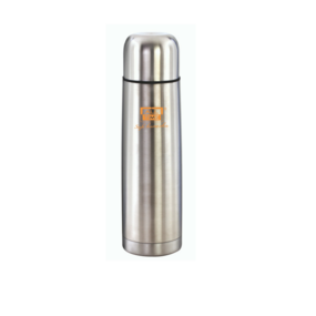 Cresta SS Bullet Flask With Pouch & Push Cap, 350 ml,  silver