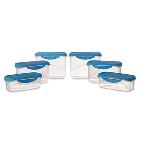 Delite Container Set of 6, 4500 ml,  blue