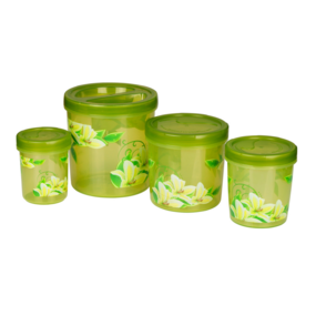Zen Decor 700-702-704706(3330Ml) (4Pc Set), 3330 ml,  green
