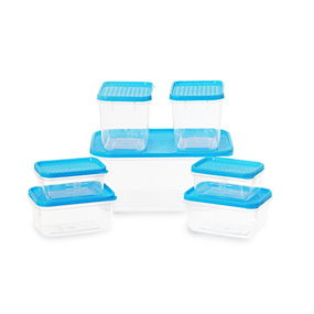Polka Container Set of 7,  blue