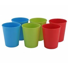 Treats Glass (6 Pcs Set), multi color