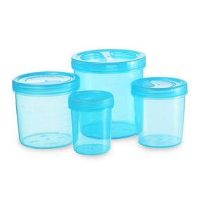 Iris Container 700-702-704-706 (3330Ml) (4Pc Set), 3330 ml,  blue