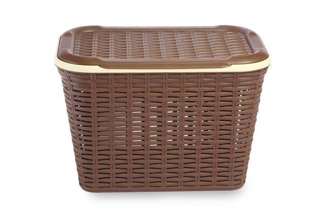 Cresta Rectangular Basket 20 Ltr, brown