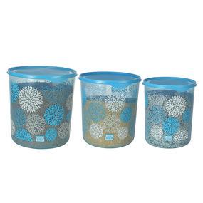 Dura Fresh Decor Container Set, Set of 3, ( 5000 ml - 7500ml -10000ml), 22.5 ltr,  blue
